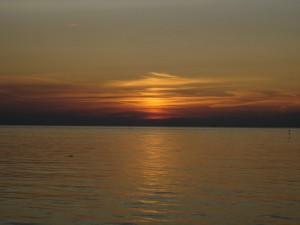 Sonnenuntergang bei Windstille