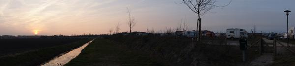 Sonnenuntergang mit WoMi