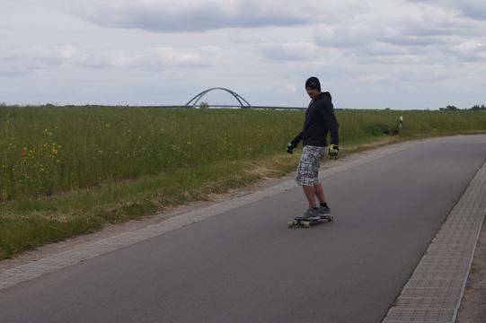 Longboarden in der Umgebung