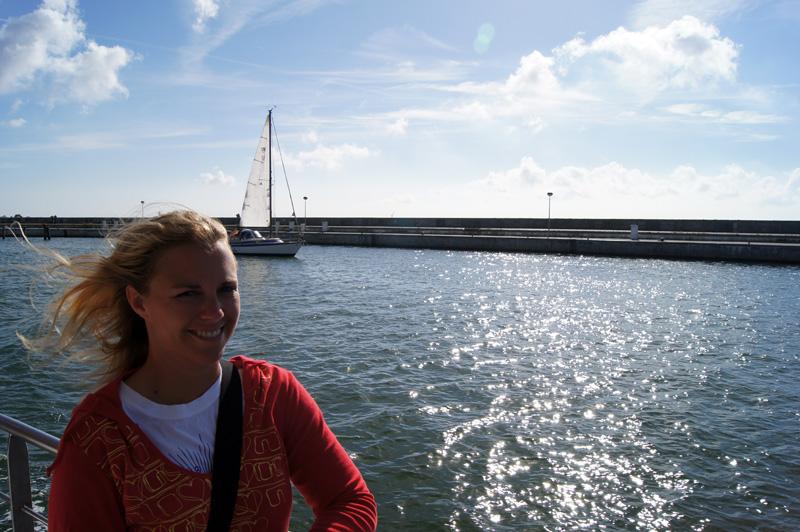 Annika an Bord